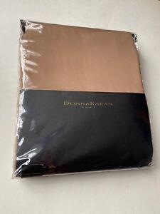 New DONNA KARAN Modern Classics Cognac King Fitted Sheet 400TC Cotton Sateen