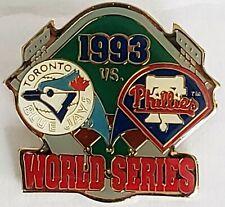 TORONTO BLUE JAYS & PHILADEPHIA PHILLIES 1993 WORLD SERIES MLB Lapel Pin Tac NEW