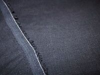 100% LINEN FABRIC ~ DARK BLUE GRAY ~ PRICE PER YARD ~ lovely!