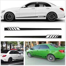 2pcs Car Body  Stripe Sticker for Mercedes Benz CLA 45 W117 C117 X117 AMG Black