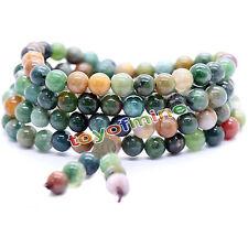 Tibetan Buddhist 6mm Agate 108 Prayer Beads Bracelet Necklace