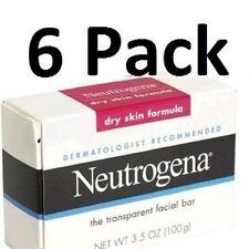Neutrogena 3.5 oz. Dry Skin Formula Transparent Facial Cleansing Bar Soap