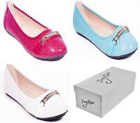 Women Ballerina Ballet Shoes, Ladies Casual Flats Slip-Ons with Bracelet Buckle