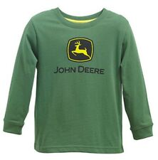 6da9ec108 NEW John Deere Boys Green Long Sleeve Logo T-Shirt Sizes 8, 10/