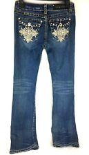 LA Idol Women's Jeans Rhinestone Embellished Pockets Size 5, W 29, L 34