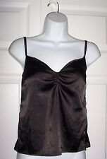 LUA Women's Small  Petite Black Camisole Top with Cushioned Bra Cups New
