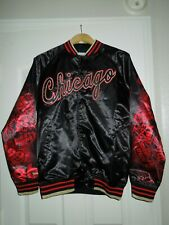 NWT Mitchell & Ness Chicago Bulls 6 Rings Collection Satin Jacket, Size M