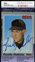Sparky Anderson Jsa Coa Hand Signed 1970 Topps Authentic Autograph