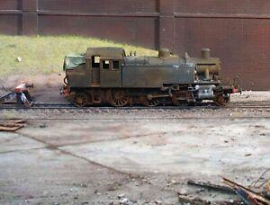 OO gauge heavily weathered withdrawn Ivatt Tank locomotive. Ref C