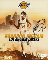 BRANDON INGRAM Authentic Hand-Signed LOS ANGELES LAKERS 8x10 Photo (JSA COA)
