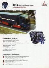 Deutz Motor 1015 Nutzfahrzeuge Prospekt 11/97 1997 brochure truck engine LKWs