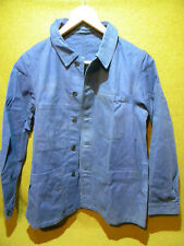 Veste bleu travail bourgeron 50/60 coton french army Work Jacket blue vintage
