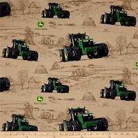 "John Deere Big Time Farm Multi premium 100% cotton Fabric Remnant 30"""