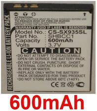 Batterie Für SHARP Wasserfest XN-1BT22, SHBCC1, EAN Code: 4894128035572 600mAh
