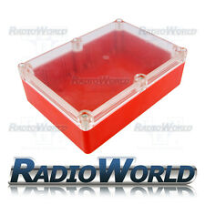 Multi Propósito Impermeable hágalo usted mismo Proyecto Caja Caja Case IP65 ABS rojo/claro