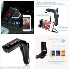 Black G7 Bluetooth Car Kit FM Transmitter Handfree MP3 Player Charger For iPhone