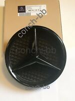 Gloss Black FRONT GRILLE STAR BADGE for MERCEDES A,C,B,GLA,GLK,CLA,CLS,ML,E,SLK