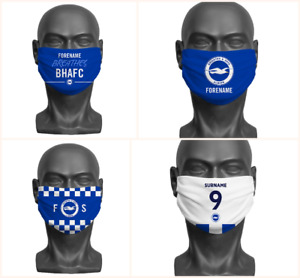 Personalised Brighton & Hove Albion FC Face Covering / Mask Official Adult