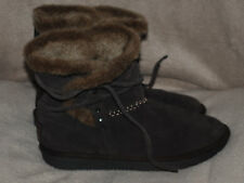 Used 'Skechers' Shelby Brown Suede Fur Lined Ankle Boots Size 7