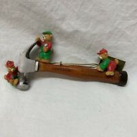 Mr Christmas 1996 Tree Ornament Sears Craftsman Claw Hammer Hand Tool Bears Mini