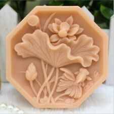Flower Soap Molds Silicone DIY Craft Handmade Silicon Soap Bar Making Lotus