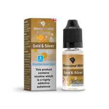 Diamond Mist E-liquid Vape Juice Gold and Silver 10ml - 6mg Nicotine
