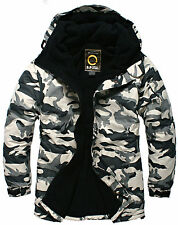 SOUTHPLAY Mens Ski SnowBoard Jacket Jumper Parka Suits Top W019 - CAMO MILITARY