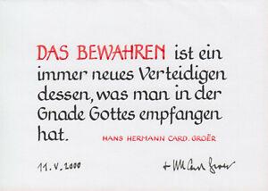 HANS HERMANN GROER --- original signiert - A3#22a