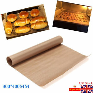 4PCS Reusable Non-Stick Bakeware Mat Grill Baking Paper Sheet 40x30cm UK