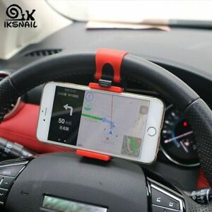 Steering Wheel Phone Holder For Car Cell Phone Mobile Mount stand Universal