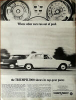 Triumph 2000 Where Other Cars Run Out Of Push Shows It's Top-Gear Paces Ad 1965