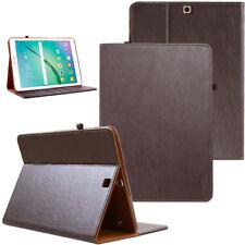 """COVER per Samsung Galaxy Tab s2 9,7"""" IN PELLE GUSCIO PROTETTIVO CUSTODIA SMART CASE MARRONE"""