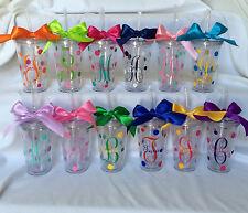 Initial tumbler,Monogram tumblers,Personalized cups, Monogrammed cups,