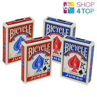 4 DECKS BICYCLE RIDER BACK JUMBO INDEX PLAYING CARDS 2 RED 2 BLUE USPCC NEW