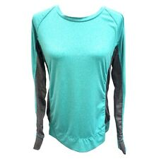 RBX Sz XL Athletic Workout Shirt Turquoise Blue Green & Gray Heather Athleisure