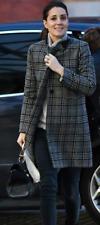 Zara Giacca Cappotto Blu Blue QUADRETTO checked COAT JACKET NUOVO NEW-M-Aso Royal