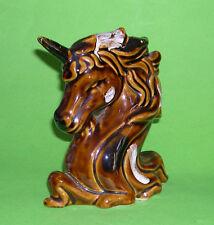 Studio Art Pottery - Attractive Unicorn Ornament - Unusual Use Of Glazes.