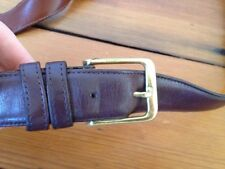 COACH Mens Leather Belt 44 Burgundy Style 5800 Burgundy Cowhide Brass Buckle