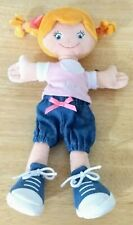 Trudi Rag Doll Girl Stuffed Plush Toy with Pigtails and Bow Jacket Pants Shoes