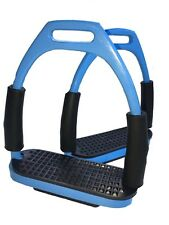 Stirrups Sky Blue Flexi Stirrups Stainless Steel Blue Safety Stirrups