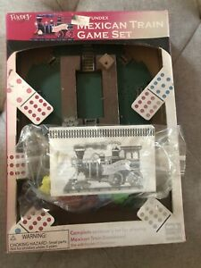The Fundex Mexican Train Dominoes Game Full Set 2002 ~ New Batteries