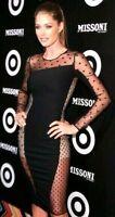 $2,586 Stella McCartney Lucia Sheer Dot Black Stretch Runway Dress US 2 4  IT 40