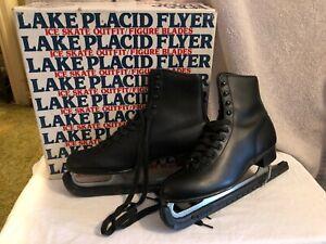 Aerfly II Mens Figure Ice Skates Sz.10 Black Leather Model 283 Boxed