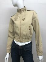See By Chloe Dice Zipper Cotton Crop Jacket in Tan Women's Size: 38 FR, XSmall