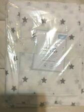 Pottery Barn Kids Star Organic Twin Sheet Set Nip White & Gray Nwt