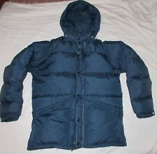 Schott Bros NYC Goose Down Insulated Puffer Jacket Navy Made in USA size men's M