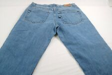 DRS Droors USA Men's 34 x 29 (TAGGED AS 36x30) Regular Denim Jeans-patched#W293