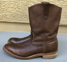 Vtg RED WING Pecos Nailseat Pull-On Cowboy Engineer Boots 1155 Men's Sz 12 AA 2A