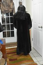 Natural Mahogany FEMALE RANCH MINK Fur Coat, size 16 (XL), made in CANADA $10000