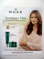 PUBLICITE-ADVERTISING :  NUXE Nuxuriance Ultra  2016 Cosmétique model